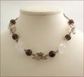 Smoky Quartz Floral Necklace (LS36)
