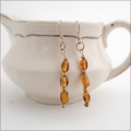 Amber Drop Earrings (DE10)