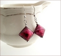 Red Designer Lampwork Diamond Earrings (DE12)