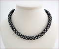 Black and White Netted Pearl Necklace (BW019)