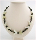 Flights of Fancy Aventurine and Serpentine Necklace (LS94)