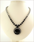 Dark to Light Beadwork Pendant Necklace (BW25)