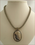 Crazy Lace Agate Beadwork Necklace (BW26)