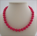 Dark Rose Candy Jade Necklace (BH96)