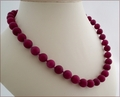 Aubergine Candy Jade Necklace (BH97)