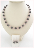 The Land of Grey & Pink Picasso Jasper and Rose Quartz Set (CG63)