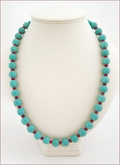 Turquoise and Red Necklce (BH102)