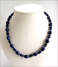 Lapis Lazuli Knotted Necklace (SS110)