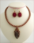 Hay Meadow Beadwork Necklace & Earrings Set (BW49)