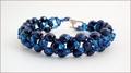 Metallic Blue Beadwork Bracelet (BB25)