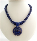 Midnight Nymph Lapis Blue Dragonfly Necklace (BWD04)
