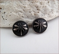 Black and Silver Dragonfly Earrings (BWD07e)