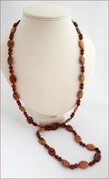 Rudraksha & Jasper Knotted Necklace (LS111)