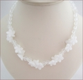 White Jade and Crystal Quartz Necklace (CG69)