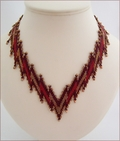 Leaping Flames Beadwork Necklace (BW112)