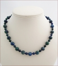 Chrysocolla Knotted Necklace (SS113)