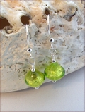 Peridot Green Murano Earrings (DDE23)