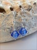 Sapphire Blue Murano Glass Earrings (DDE25)