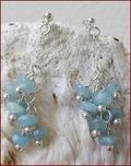 Aquamarine Dangly Earrings (BH56)