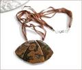 Rainforest Jasper Pendant Necklace (D47)