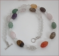 Mixed Carved Quartz Necklace (BH84)