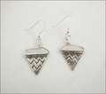 Karen Hill Tribe Silver Pennant Earrings (SS96)