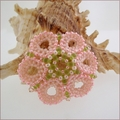 Pink Star Flower Brooch (BWB01)