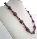 Lilac Lepidolite Knotted Necklace (CG59)
