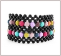 Raw Candy Beadwork Cuff Bracelet (BB016)
