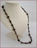 Long Tiger Eye and Mica Necklace (LS96)
