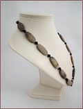 Artistic Jasper and Matt Black Onyx Necklace (D55)
