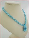 Blue Sparkle Necklace with Swarovski Pendant (WB42)