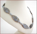Blue Wash Ice Blue Agate Knotted Necklace (SS105)