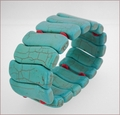 Turquoise Howlite Stretch Bracelet (BH99)
