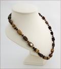 Tiger Eye Necklace and Bracelet Set (D57)