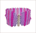 Pink & Purple Herringbone Cuff (BB22)