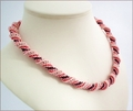 Pink Russian Spiral Necklace (BW58)
