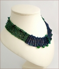Peacock Beadwork Collar (BW0011)