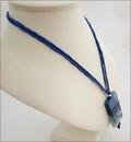 Blue Sakura Agate Pendant on Silk (CG04)