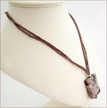 Light Brown Sakura Agate Pendant Necklace (CGS05)