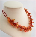 Flames of Flowers Beadwork Necklace (BW110)