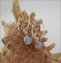 Druzy Quartz Earrings in Sterling Silver (DDE21)