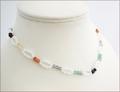 Moonstone & Crystals Necklace (CG71)