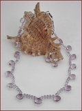 Pink Amethyst Necklace and Earrings Set (SM79)