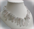 Rock Crystal Points Necklace (WB12)