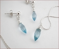 Blue Topaz Pendant and Earrings Set (SM104)