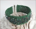 Green Dragon Beadwork Bracelet (BWB006)