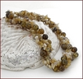 'Coiled Dragon' Agate and Yellow Opal Necklace (LS63)