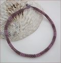 Lilac Chenille Rope Necklace (BW015)