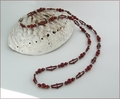 Long Red Jasper Necklace (LS92)